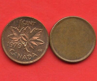 1979 Canada Double Date & Pre 1981 Blank Planchet Error 1 Cent Coins
