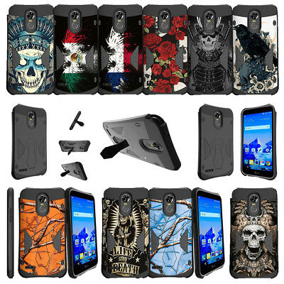 For LG Stylo 3 | LG Stylo 3 Plus LS777 (2017) Dual Bumper Stand Case - Tough Art