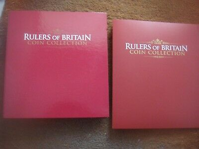 Rulers Of Britain Coin Collection Issues 1-26 Complete Coins & Magazines Folders