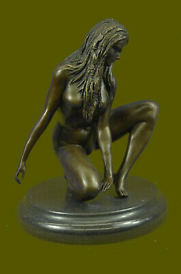 Vienna Bronze Statue -Striptease signed by Mavchi French Sculpture Lost Wax SALE