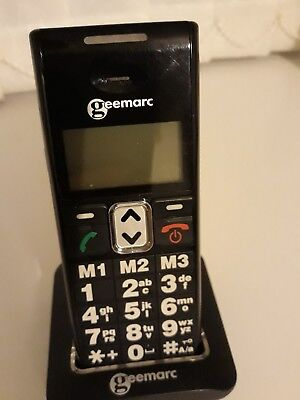 Geemarc clearsound CL8300 amplified big button Mobile phone Black