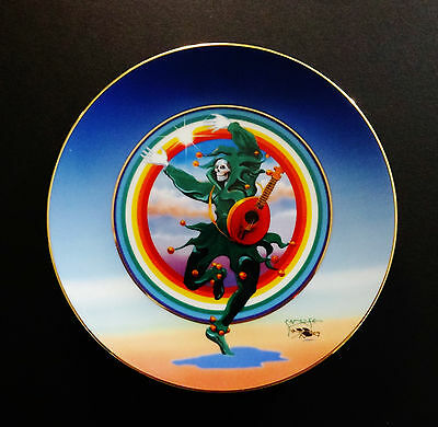 Grateful Dead Plate Stanley Mouse Dancing Jester Hamilton Collection 98 24K Gold