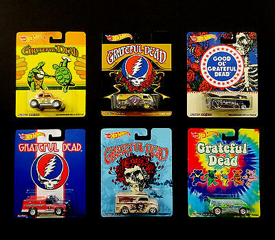 Grateful Dead Hot Wheels Cars VW Volkswagen Mattel 2013 GDP Complete 6 Set New !