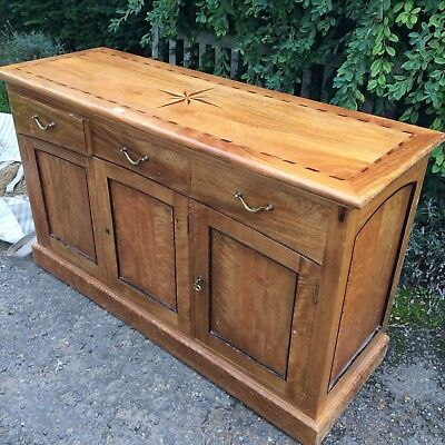 Mahogany Oak ? Buffet Dresser Sideboard Inlaid Marquetry 20thC Arts and Crafts