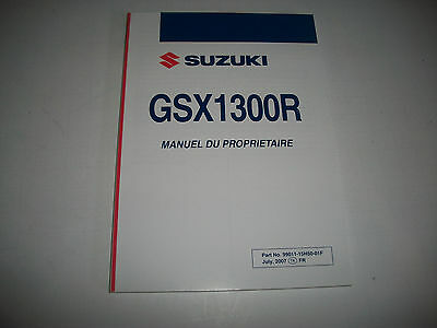 Nos 2008 Suzuki Gsx1300R Owners Manual French Language