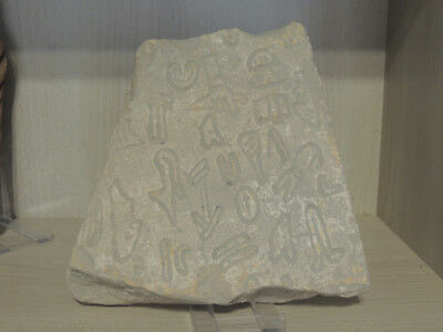 Antique Stone Tablet With Drawings And Scriptures