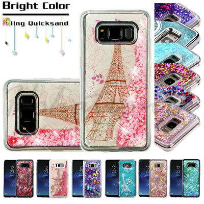 Samsung GALAXY S8 Active Hybrid Bling Glitter Rubber Protective Phone Case Cover