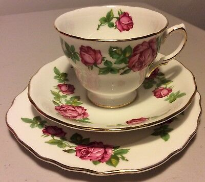Vintage Plate, Cup & Saucer Royal Vale Bone China