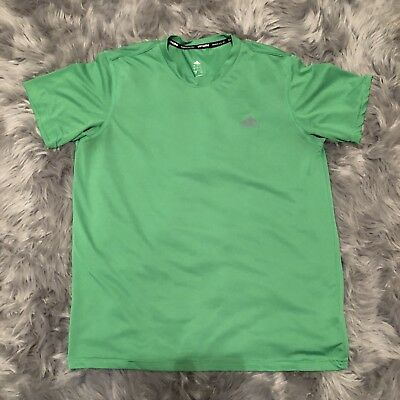 Adidas Green Men's Climalite Ultimate Short Sleeve Tee Athletic T-Shirt