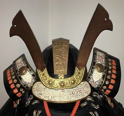 Japanese Samurai Wearable Armor Helmet Mask Chest Arms Legs Shoulders In the USA