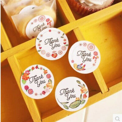 120pcs Thank you sticker with flower design Seal stickers for party Gift
