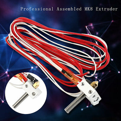 Professional Assembled MK8 Extruder 1.75mm/0.4mm Nozzle 3D Printer Accessory GT