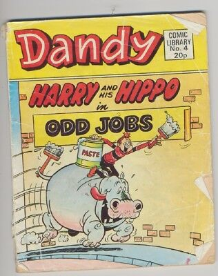 *DANDY COMIC LIBRARY NUMBER 4: Harry and His Hippo in Odd Jobs* DC Thomson, 1983