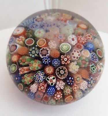 Antique. Baccarat millefiori paperweight. Hand-blown glass. Mid-19th century.