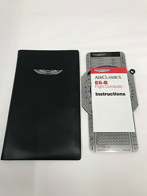 ASA E6B Metal Flight Computer Air Classics (Outside Package Damage Only)