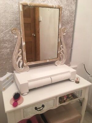 Vintage Mirror With Shelf And Drawers