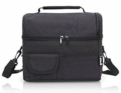 PuTwo Lunch Bag Large Capacity for Insulated Cooler Bag Lunchbox with YKK Zip Ad