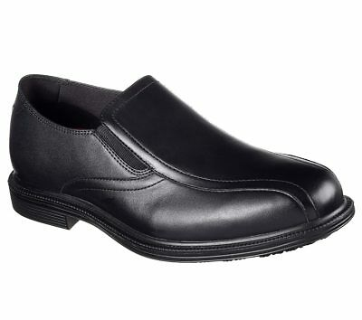 77076 Black Skechers shoes Work Men Memory Foam Slip Resistant Dress Comfort New