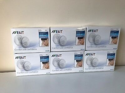 Philips Avent Disposable Breast Pads 6 Boxes 240 Total   BRAND NEW Bundle Joblot