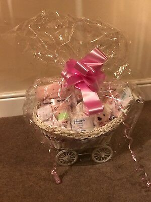 Luxury Branded Baby Girl Pram Hamper Gift Set