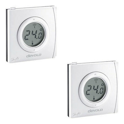 Devolo Home Control Raumthermostat 2er Set Smart Home Z-Wave Hausautomation
