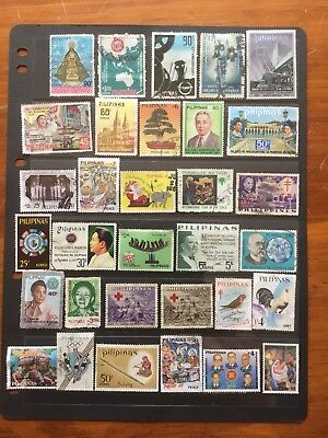 32 Used Stamps From Philippines