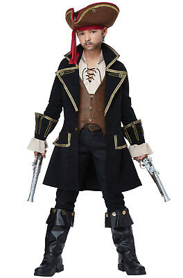 Brand New Deluxe Captain Swashbuckler Pirate Child Costume