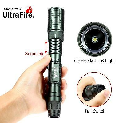 Ultrafire Zoomable X-XML T6 60000LM LED Flashlight 18650 Battery Torch  GA