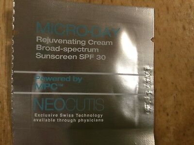 Micro Day spf 30 cream samples lot of 30 expires 12/18
