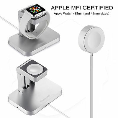 Magnetic Charger Charging Cable & Stand For Apple Watch iWatch 38mm/42mm MFi BID
