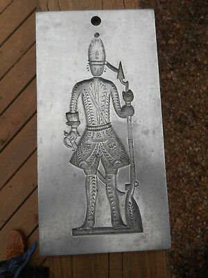 Virginia Metalcrafters Williamsburg Bake Shop Mold/ Depicts A Hessian Soldier