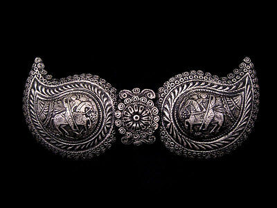 Pair Of Medieval Silver Buckles, Terracotta Museum  Replica!!!