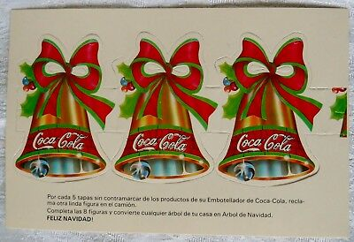 Rare Vintage Coca Cola Cardboard Decoration Ornament from Colombia Minty
