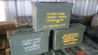 M19A1 Military Surplus .30 Caliber Ammo Can. Multiple available, FREE SHIPPING!