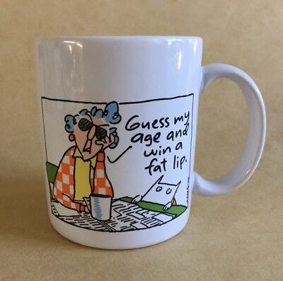 "Hallmark Shoebox Maxine Mug Wagner 12 Oz, ""Guess my age and win a fat lip."""