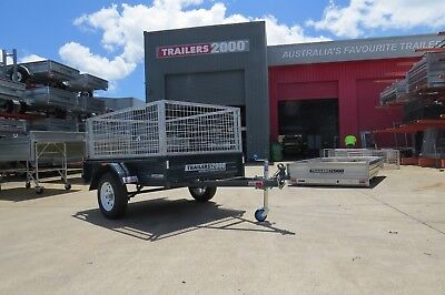 SALE - 6 x 4 Zincanneal (Galvanized Steel) Trailer with cage - Trailers 2000