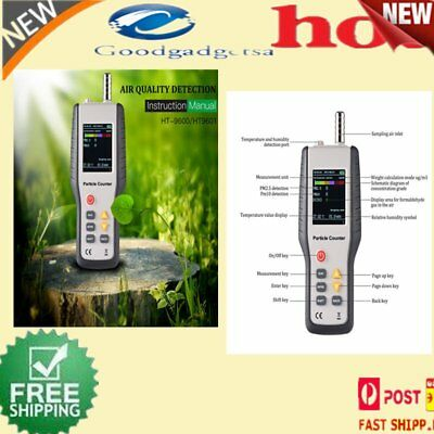 Portable Precision Efficient Handheld Air Quality Detector Particle Counter GT