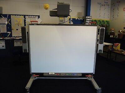 """64"""" Interactive Smart Board SB680 with stand, speakers and non-working projector"""