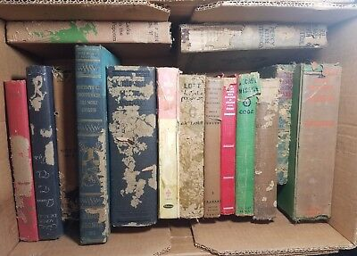 Lot of 10 ANTIQUE Old Vintage Books Collection Set UNSORTED MIXED hardcover READ