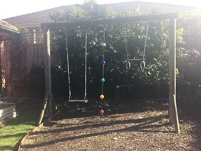 Solid Wooden Swing Set