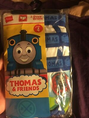 New Thomas The Train & Friends Toddler Boys Briefs Underwear 3 pack Size 4