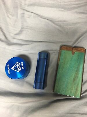 "Wooden Dugout Set with bat 4"" Spring Loaded, Grinder and Storage Container"