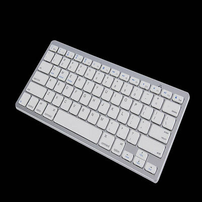 New Silver Wireless Bluetooth Keyboard For Android MAC Windows OS System AQ