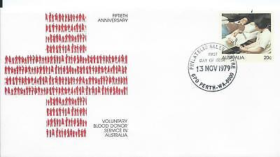 1979 Fdc Blood Doner Service In Australia Pse