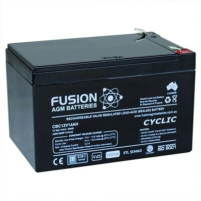 Brand NEW 12V 14AH Sealed Lead-Acid Battery AGM 4 UPS Solar Power Scooter eBike