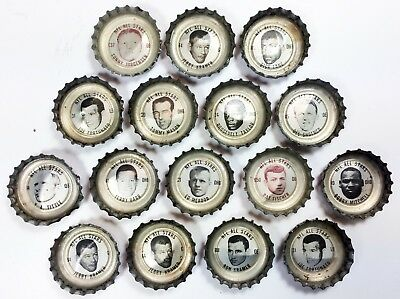 Lot of 16 NFL Hall of Famers & All-Pros 1965 Coca-Cola bottle caps