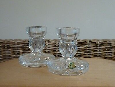 Pair of WATERFORD Crystal Candlesticks  Handmade in Ireland  With Original Label