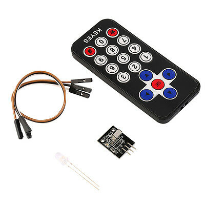 New Infrared IR Wireless Remote Control Receiver Module Kit for Arduino MN
