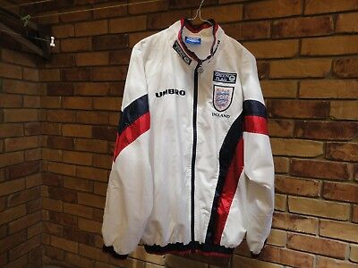 Mens Umbro Green Flag England Wind Jacket Size L