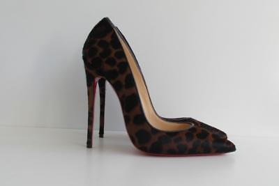 3190638c39e0 Christian Louboutin So Kate Pumps Leopard Pony Dark Brown Heels 37 Auth NIB  120